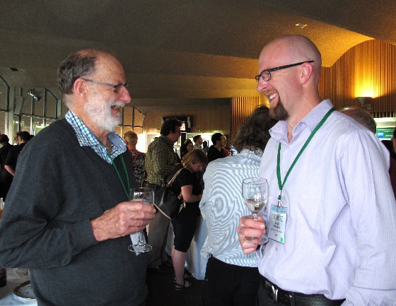 Bill Palmer and Leigh Pilkington at the welcome reception