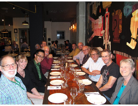 IOBC members and symposium speakers at the IOBC dinner